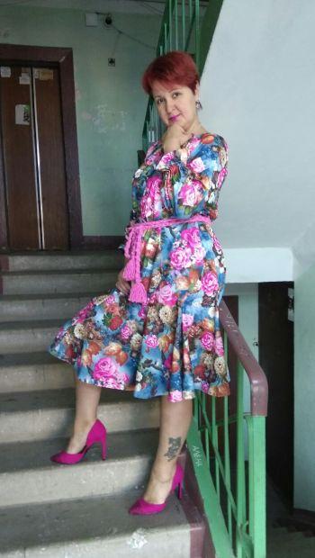 "Етнічна сукня ""Троянда"""
