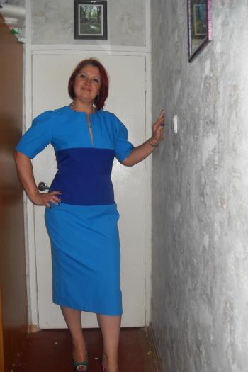 Сукня - блакить