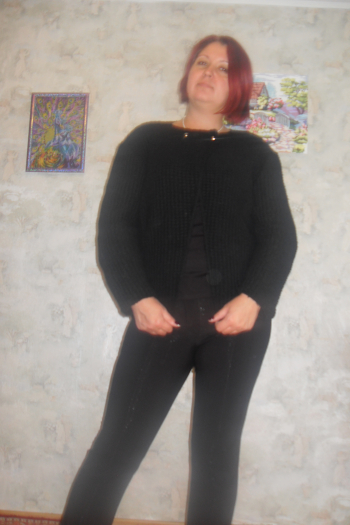 Чорний кардиган