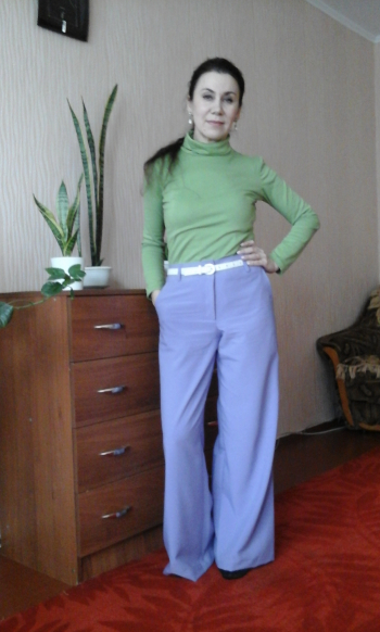 лавандові брюки