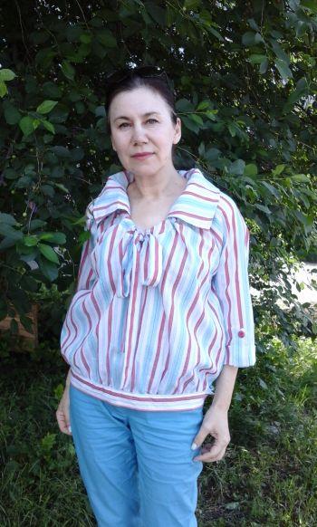 Блузка в смужку