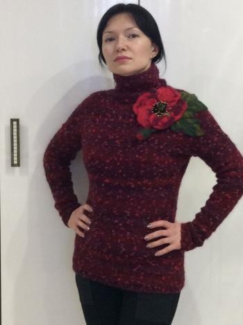 Маковый пуловер
