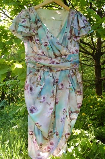 Шовкове плаття-тюльпан
