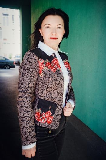 Жакет cпенсер із баскою