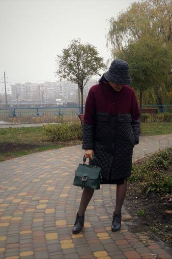 Комбіноване пальто