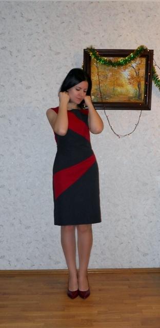 Чорно-червона сукня