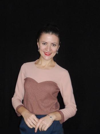 Блуза з сердечком ШЛБ 2/2014 2В
