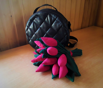 Шкіряна сумка-рюкзак