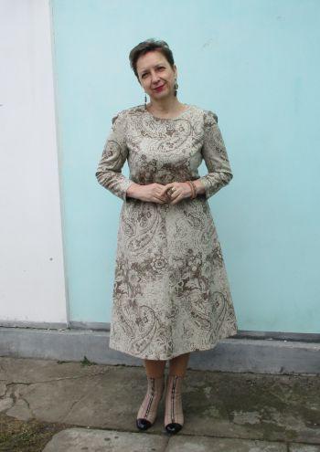 Твідова сукня зі східним візерунком