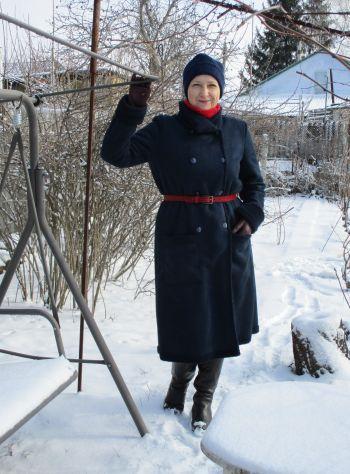 Пальто зі штучної замші