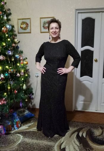 Сукня годе з трикотажу з люрексом