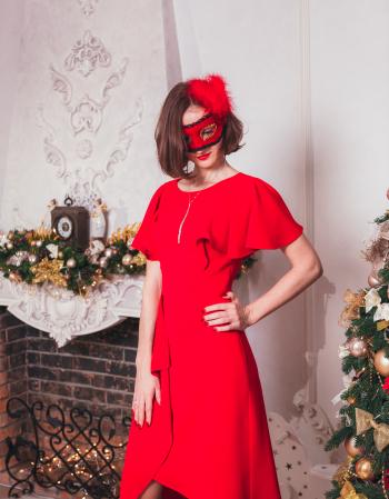 Новорічний флешмоб від швейних штучок: сукня і маска