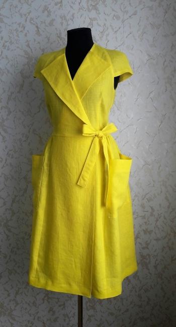 Сукня в стилі ретро з льону