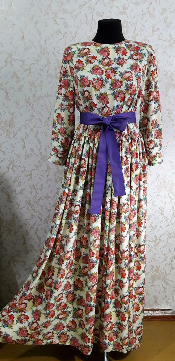 Сукня максі зі штапелю