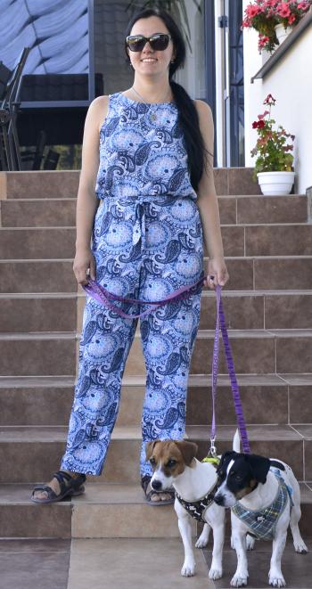 """Блузка і брюки з принтом """"огірки"""""""