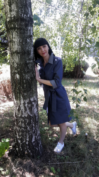 Джинсова сукня-сорочка
