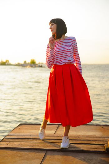 Морський стиль в одязі або як отримати 10-тибальний шторм захоплень. Спідниця та тільник