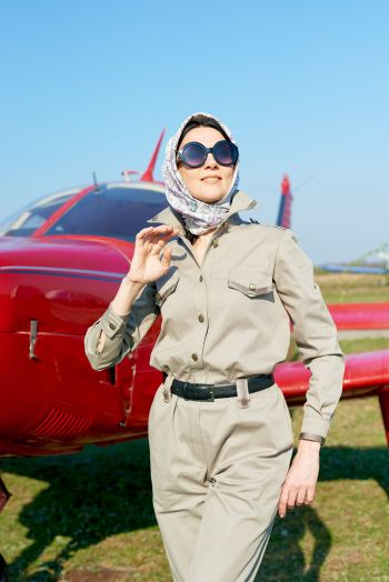 """Комбінезон в стилі мілітарі. Флешмоб """"Осінь. Дівчина. Літак."""""""