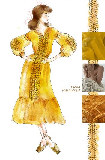 #ескізburda Сукня за мотивами вишиванки