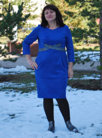 Сукня зі штучної замші