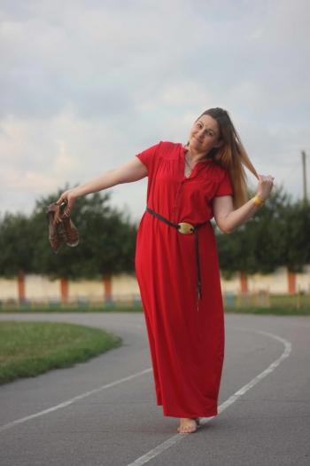 Стильна сукня на літо з трикотажної бавовни