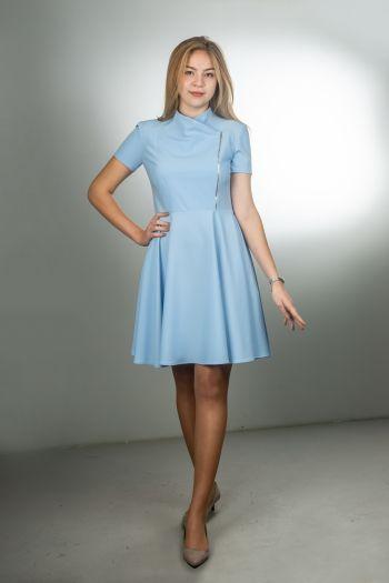 Блакитна дівоча сукня