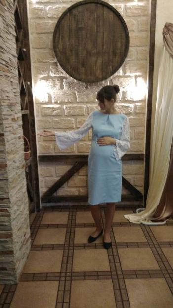 Сукня для вагітної перероблена із викрійки
