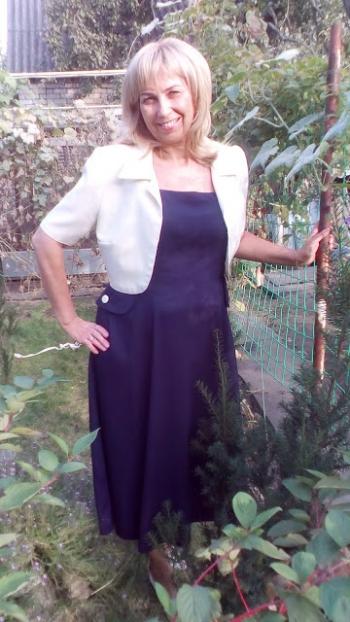 Сукня та болеро з шерстяного крепу