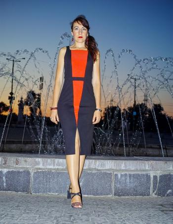 Сукня - червоно-чорна геометрія