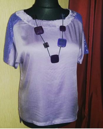 Лілова блуза