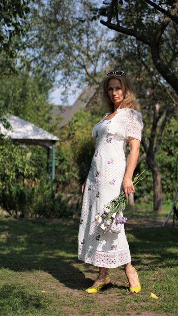 Сукня з прошви для зустрічі київського швейного клубу