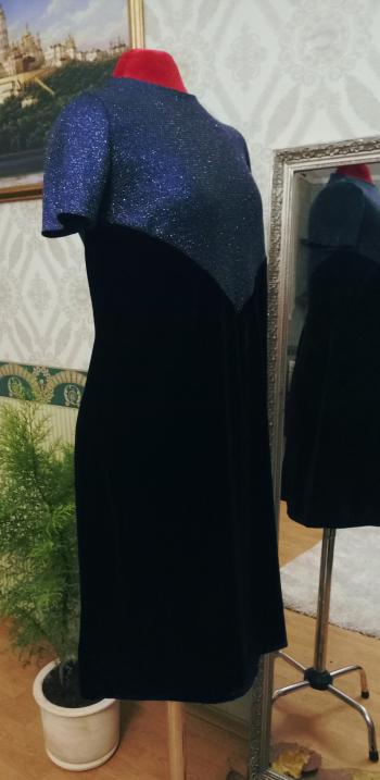 Сукня з оксамиту та трикотажу з люрексом