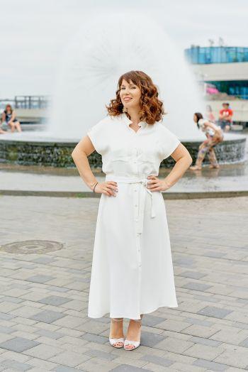 Біла сукня в колоніальному стилі!