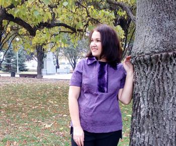Блуза з жакарду