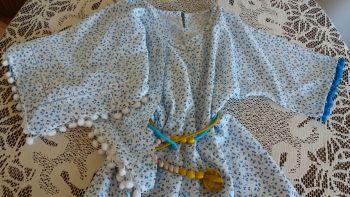 На спеку. Сукня з паском для дівчинки