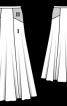 Спідниця з контрастними боковими кокетками - фото 3