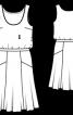 Сукня з вузьким вшитим поясом - фото 3