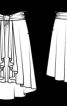 Спідниця з асиметричним низом та широким хомутиком - фото 3