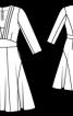 Сукня з ліфом, що прилягає, і складками  - фото 3