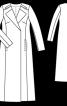 Максі-пальто з запахом та широкими лацканами - фото 3