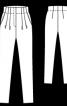 Брюки із завищеною талією та складками - фото 3
