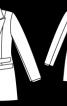 Блейзер з подвійними клапанами на кишенях - фото 3