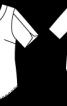 Блуза з декольте на спинці, прикрашеним ланцюжком - фото 3