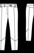 Брюки довжиною до щиколотки з рельєфним швом - фото 3