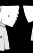 Туніка з фігурним вшитим поясом - фото 3