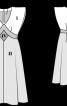 Сукня з суцільнокроєними рукавами - фото 3