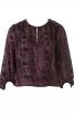 Блуза прямого крою з ажурним візерунком - фото 2