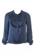 Блузка прямого крою з рюшами - фото 2