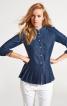 Блузка прямого силуету із плісировкою - фото 1