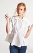 Блузка із асиметричною баскою - фото 1
